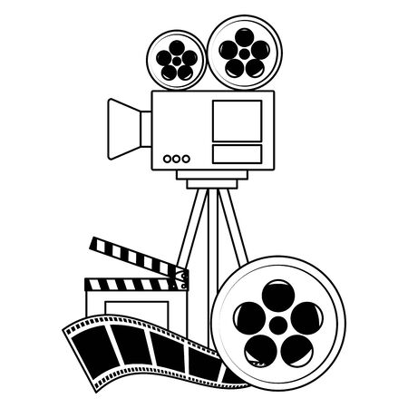 projector reel strip film cinema design vector illustration