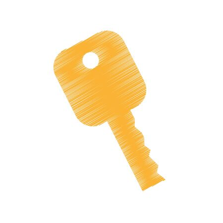 key car isolated icon vector illustration design Banco de Imagens - 129029953