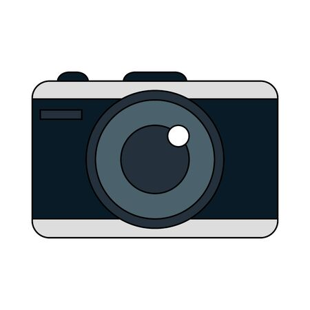 Camera design, Device gadget technology photography equipment digital and photo theme Vector illustration Illusztráció