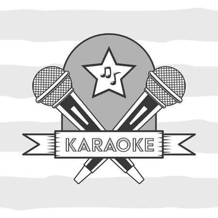 microphone karaoke retro style background vector illustration Stock Illustratie