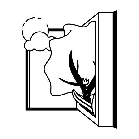 open book tree sun landscape - world book day vector illustration 일러스트