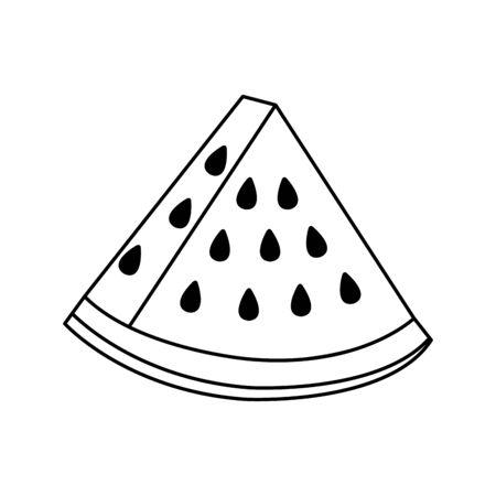 fresh watermelon fruit nature icon vector illustration design  イラスト・ベクター素材