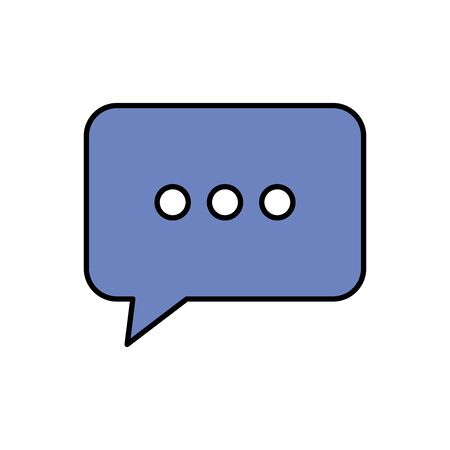 speech bubble message isolated icon vector illustration design 向量圖像