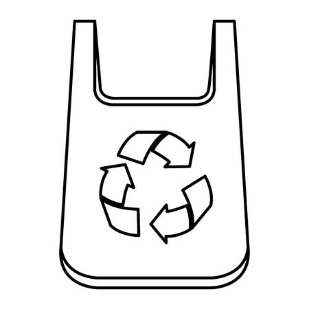 plastic bag with recycle arrows vector illustration design