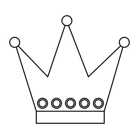 cute crown queen decorative icon vector illustration design