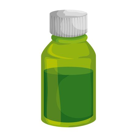 medical plastic bottle with syrup vector illustration design