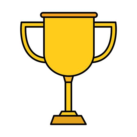 trophy cup award isolated icon vector illustration design Stockfoto - 129105415