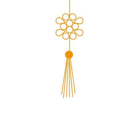 chinese mandala decorative hanging icon vector illustration design