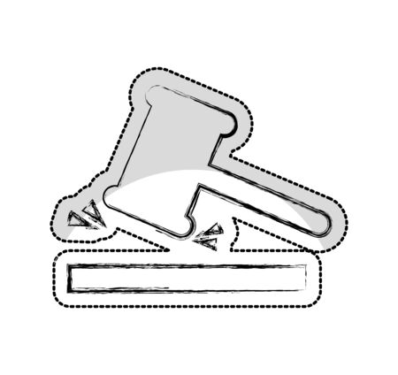gavel justice isolated icon vector illustration design  イラスト・ベクター素材