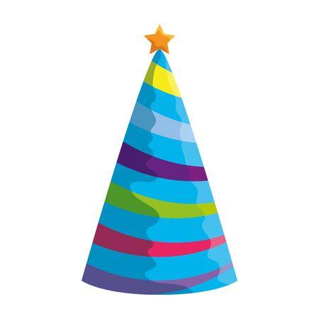 party hat celebration icon vector illustration design Иллюстрация