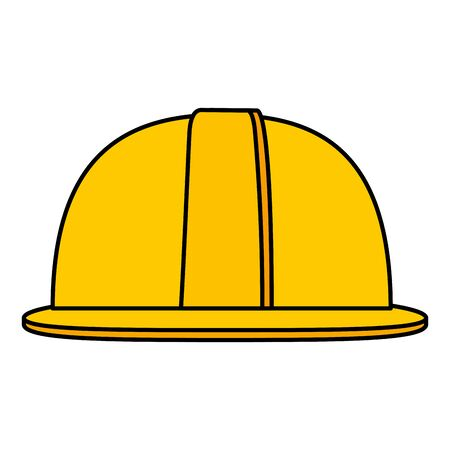 helmet construction element isolated icon vector illustration design Stock Illustratie