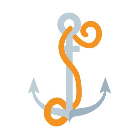 summer marine anchor isolated icon vector illustration design  イラスト・ベクター素材