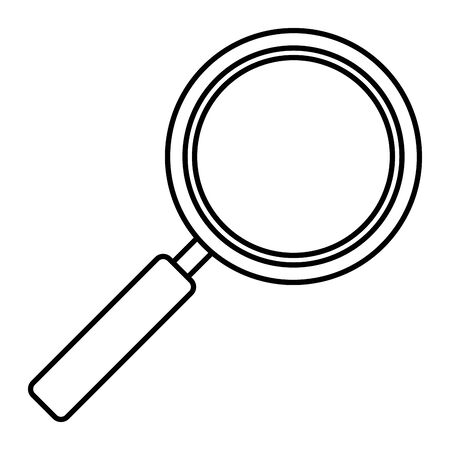 search magnifying glass isolated icon vector illustration design Çizim