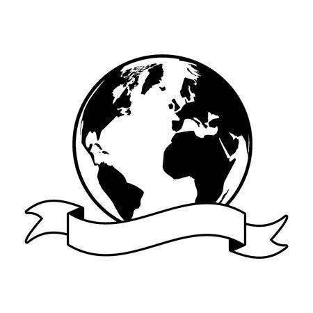world emblem earth day card vector illustration