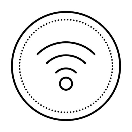 waves wifi signal isolated icon vector illustration design 스톡 콘텐츠 - 129126008