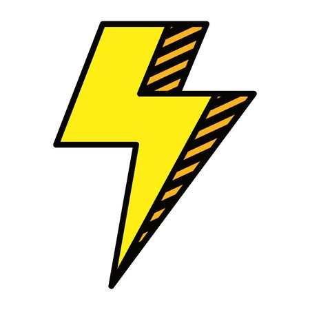 power thunder electric ray icon vector illustration design Stock Vector - 129160077
