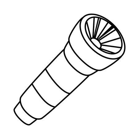 Diseño de ilustración de vector de icono de linterna de luz de flash