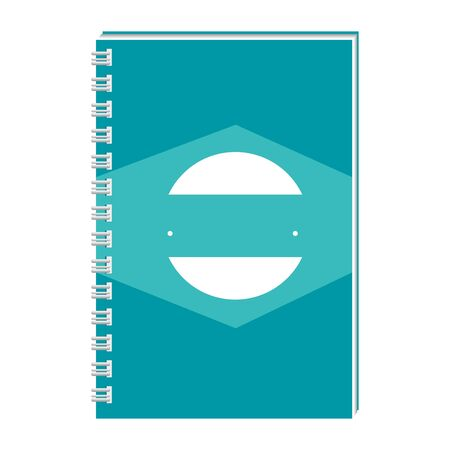 notepad with company emblem print vector illustration design 일러스트