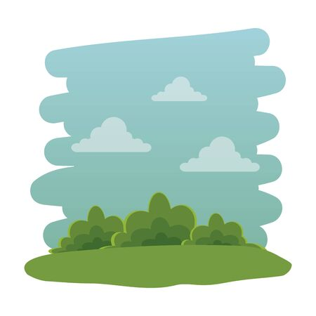 recreational park natural scene icon vector illustration design