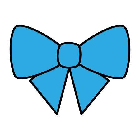 cute bow decorative isolated icon vector illustration design