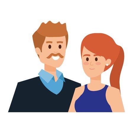 adults parents couple avatars characters vector illustration design Foto de archivo - 129177020