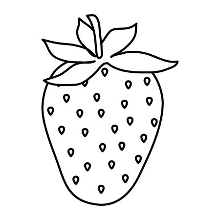 sweet and fresh strawberry fruit vector illustration design Illusztráció