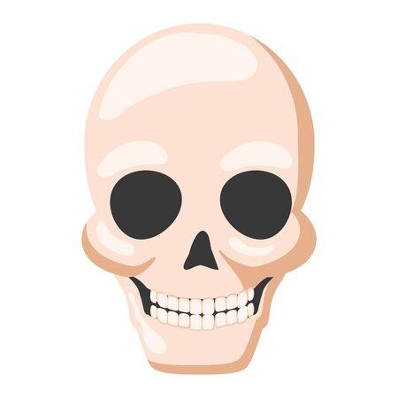 death skull icon white background vector illustration Иллюстрация