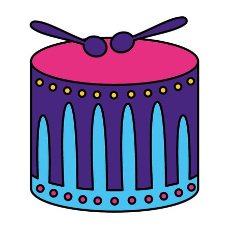 drum with sticks music vector illustration design Ilustração