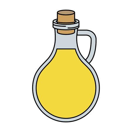 olive oil bottle healthy food vector illustration design  イラスト・ベクター素材
