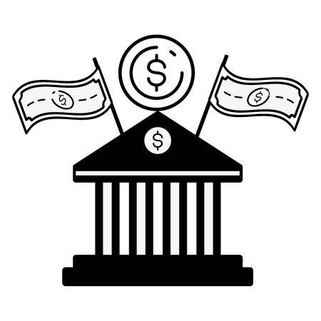 bank money online banking vector illustration design