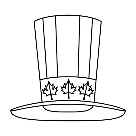 canadian tophat culture isolated icon vector illustration design