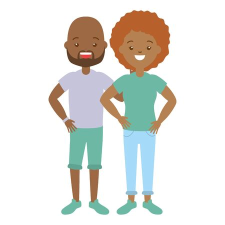 man and woman lgbt pride vector illustration