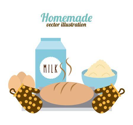 homemade food design, vector illustration  graphic  イラスト・ベクター素材