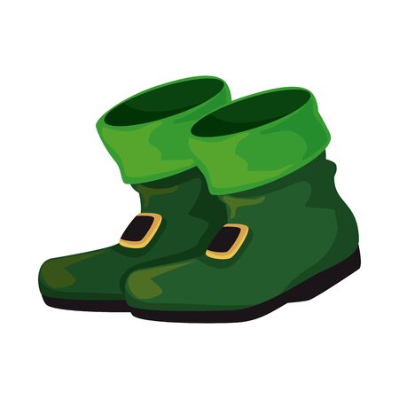 leprechaun boots saint patrick day vector illustration design Standard-Bild - 129230305