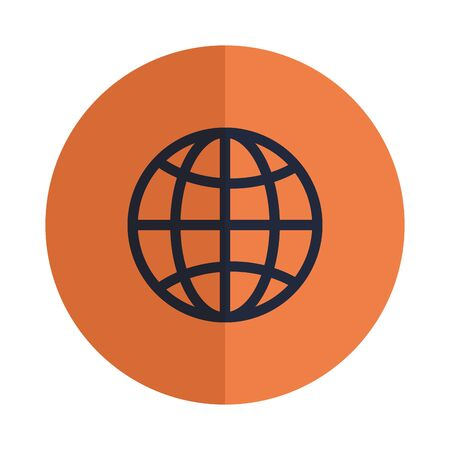 sphere planet browser isolated icon vector illustration design Banque d'images - 129165064