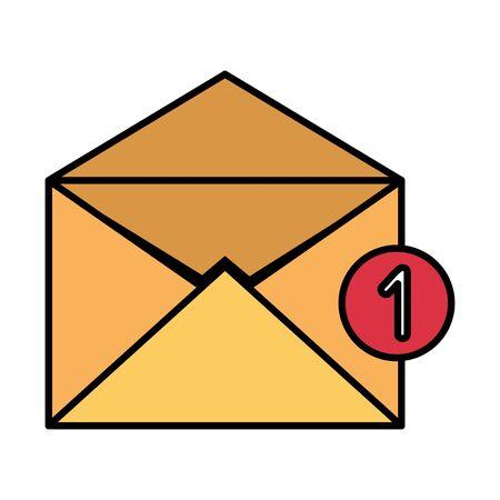envelope mail with counter number vector illustration design Foto de archivo - 129165245