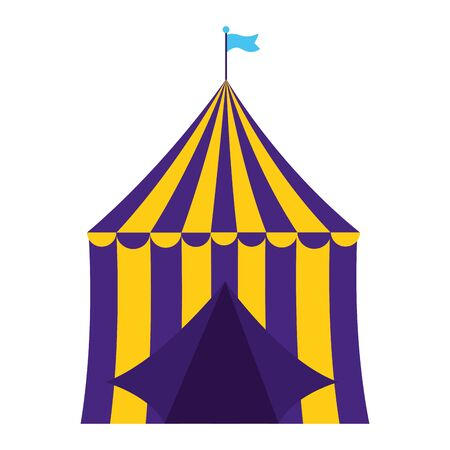 carnival tent circus on white background vector illustration design Illustration