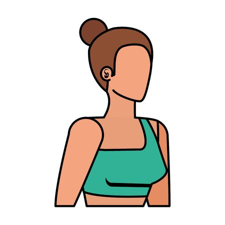 young sport woman avatar character vector illustration design Banque d'images - 129231198