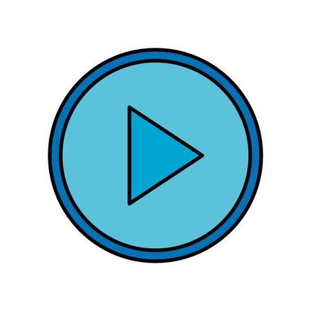 play button interface isolated icon vector illustration design