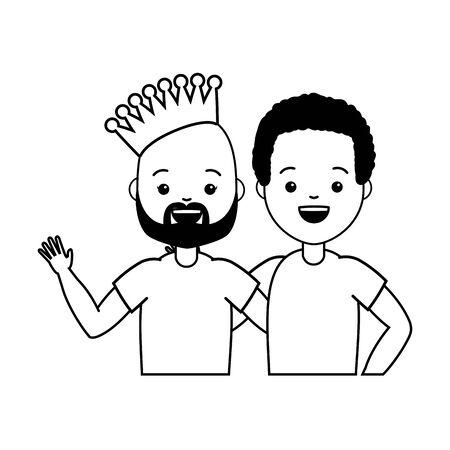 happy couple men lgbt pride vector illustration Stockfoto - 129231311