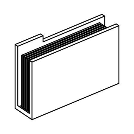folder documents files storage vector illustration design Ilustração