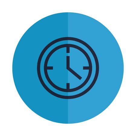 time clock watch isolated icon vector illustration design Banque d'images - 129231329
