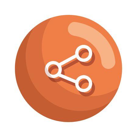 share social media symbol vector illustration design