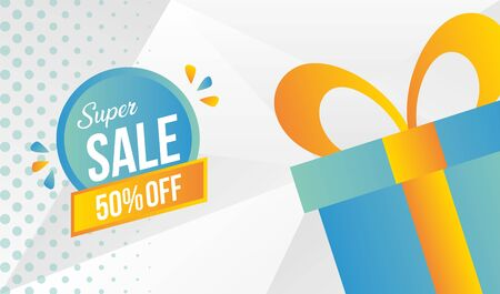 super sale off special promo market vector illustration