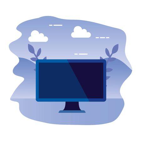 desktop computer device isolated icon vector illustration design
