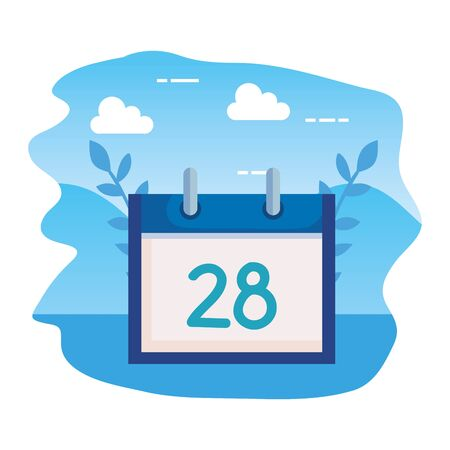 calendar reminder date isolated icon vector illustration design