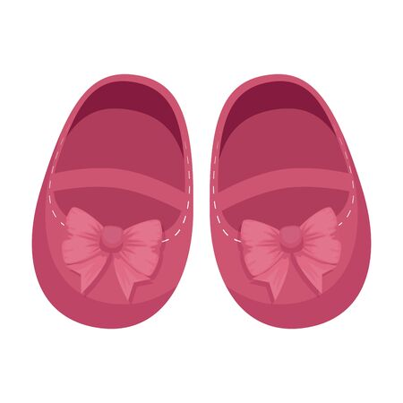 cute little girl shoes icon vector illustration design
