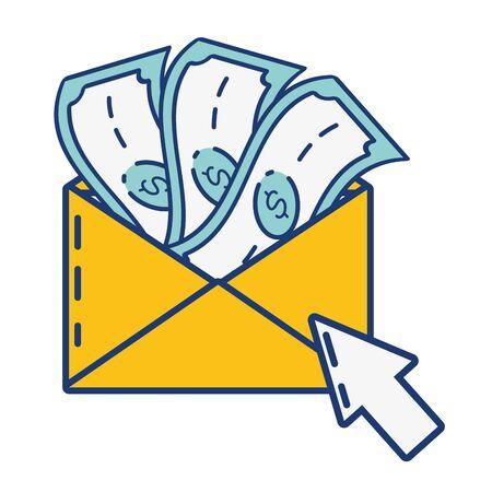 mail money click online payment vector illustration Ilustração