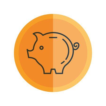 piggy savings isolated icon vector illustration design Çizim