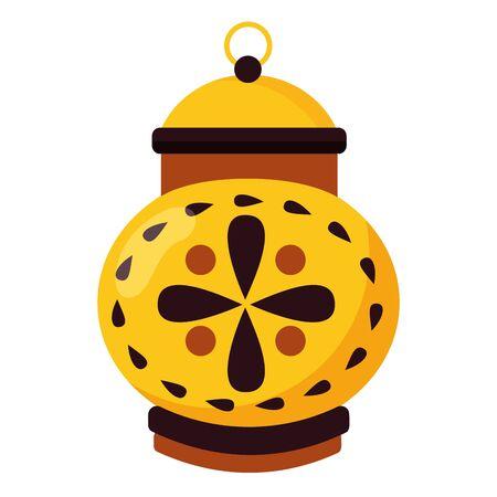 classic lantern decoration ornament on white background vector illustration Illusztráció
